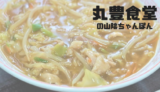 【丸豊食堂】オリジナルメニュー「山陰ちゃんぽん」ってなんだいな?/鳥取市