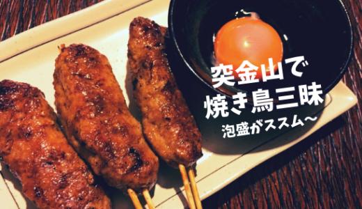 【突金山】タレが美味い!焼き鳥屋さんで美味しく乾杯!/鳥取市