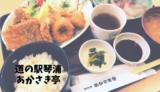 【あかさき亭】漁協直営!道の駅の海鮮料理を堪能!/琴浦町
