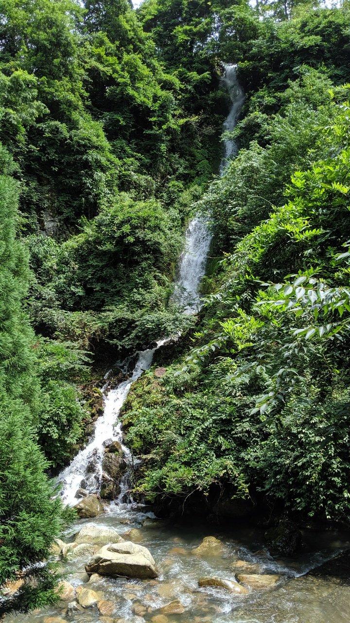 赤波甌穴群 滝